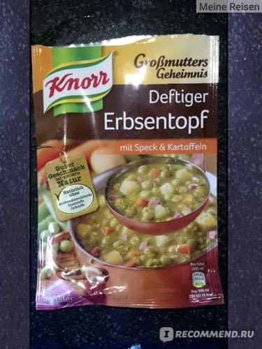 Knorr Erbsentopf mit Speck Kartofeln