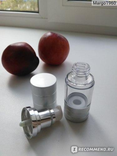Вакуумный флакон для косметических средств Aliexpress Empty Clear Plastic Airless Bottle With Pump Metal Cap фото