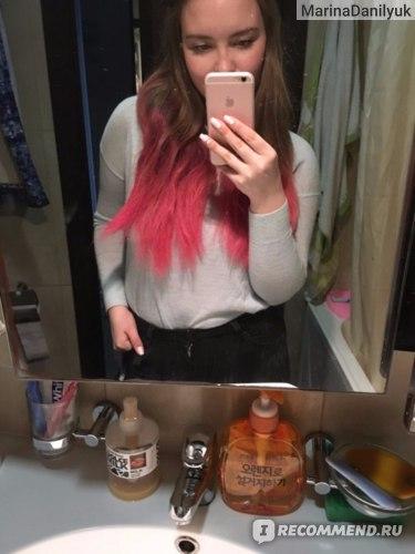 Когда высохла и немного расчесаны волосы)