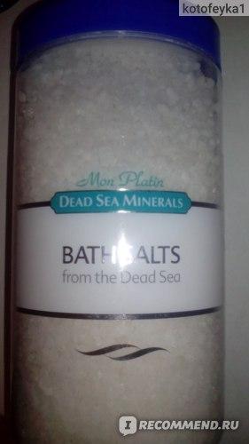 Соль для ванн Mon Platin DSM Натуральная соль Мертвого моря белая фото