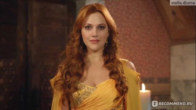 Великолепный век Хюррем в жёлтом платье