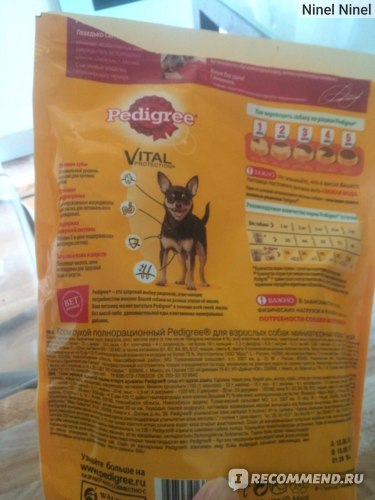 Корм для собак Pedigree Vital protection Mini (для собак миниатюрных пород) фото