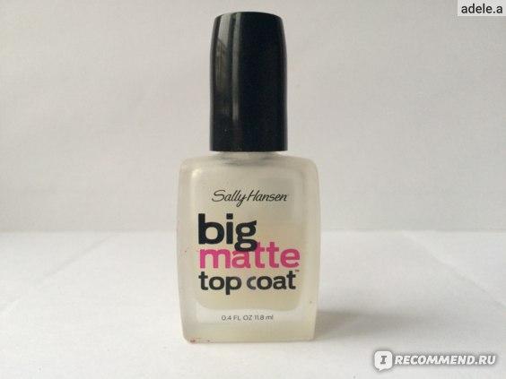 Вот и виновник сего отзыва big matte top coat от sally hansen