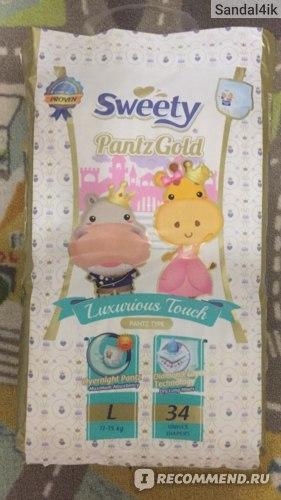 Подгузники-трусики Sweety pantz goldy фото