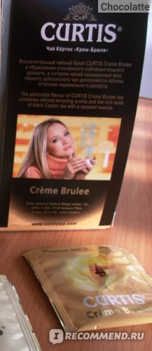 Чай в пакетиках Curtis Creme Brulee / Крем брюле фото