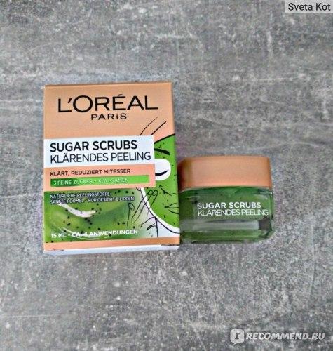 Скраб для лица L'Oreal Paris Сахарный скраб, очищающий, сокращающий черные точки фото