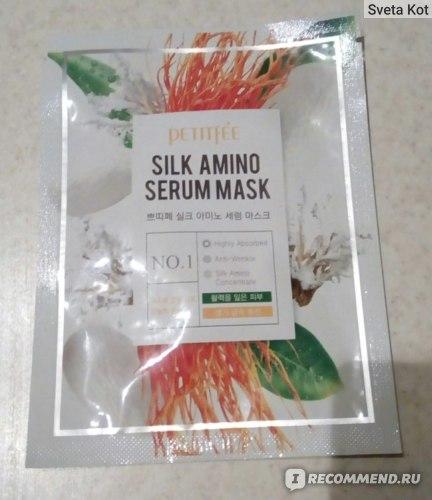 Тканевая маска для лица Petitfee С протеинами шелка  фото