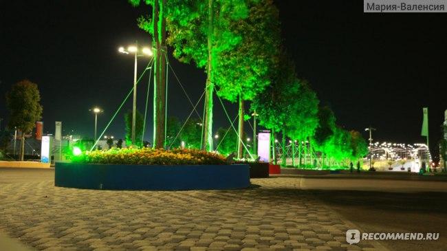 В Олимпийском парке вечером