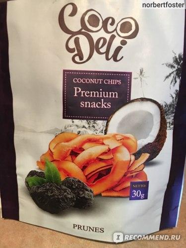 Чипсы кокосовые Coco Deli с черносливом фото
