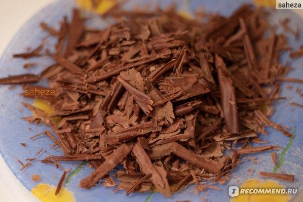 Шоколадные стрипсы для тирамису: шоколад 85% и 50%