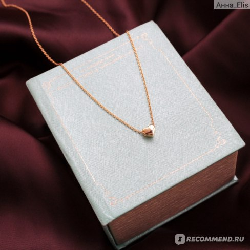 Подвеска Aliexpress Tardoo heart 925 sterling silver choker Chains and necklaces gold plated simple and romantic jewelry Valentine's day gift for women фото