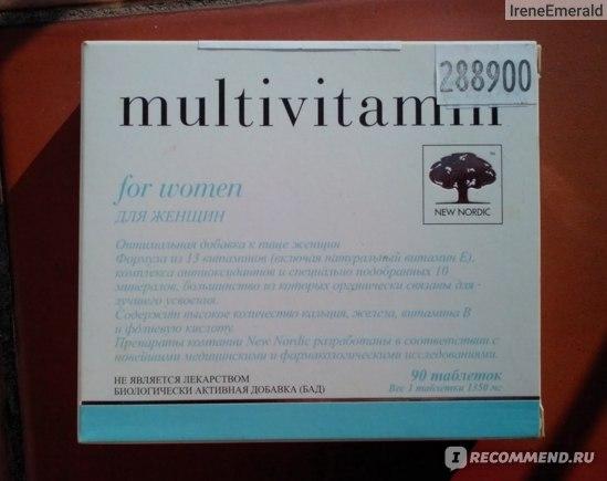 Витаминно-минеральный комплекс New Nordic Multivitamin for women фото