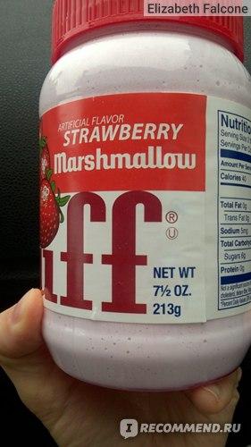 Зефирная паста Durkee Artificial Flavour Strawberry Fluff фото