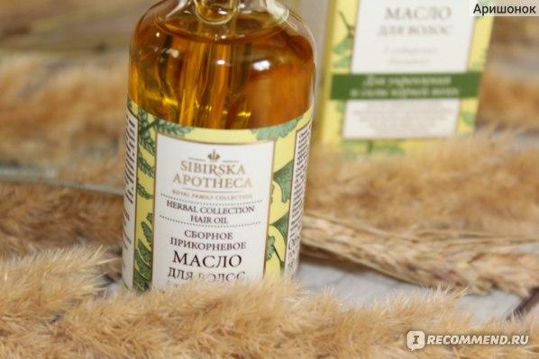 Масло для волос Sibirska apoteca Сборное прикорневое фото