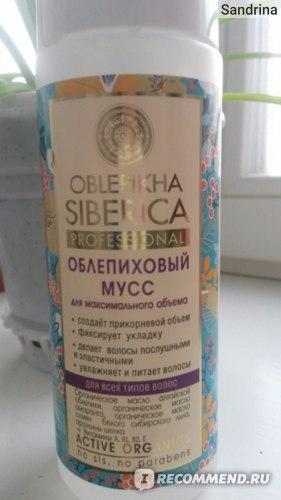 Мусс для волос Natura Siberica облепиховый фото