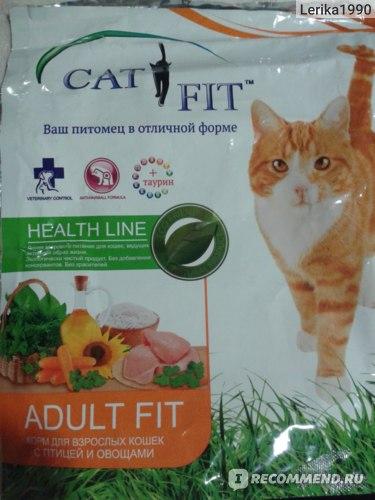 Корм для кошек Cat Fit С птицей и овощами фото