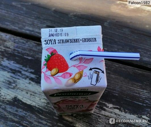 Соевые продукты Provamel Молоко соевое с клубничным вкусом  фото