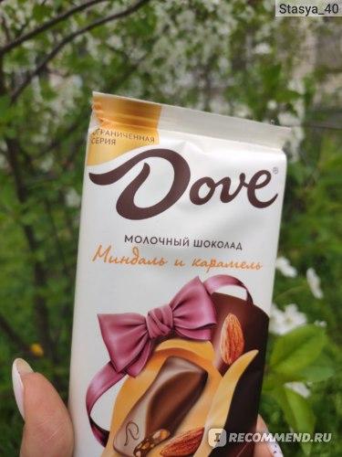 Молочный шоколад Mars Dove Миндаль и Карамель фото