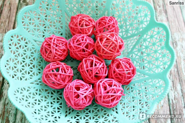 Шары из ротанга Aliexpress Wedding Rattan Ball Decoration 10pcs/Lot 3cm Sepak Takraw Christmas Balls Dried Artificial Flowers фото
