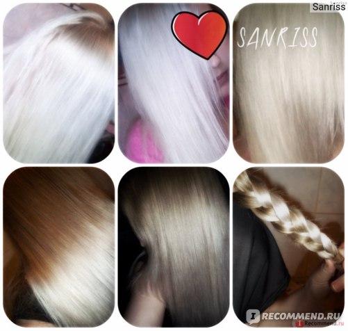 Разные светлые оттенки волос