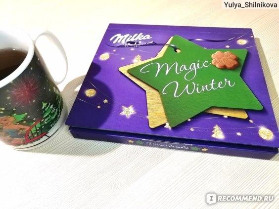 Конфеты из молочного шоколада Milka Magic winter с молочной начинкой фото