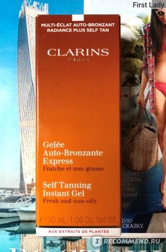 Автозагар Clarins Gelee Auto-Bronzante express  фото