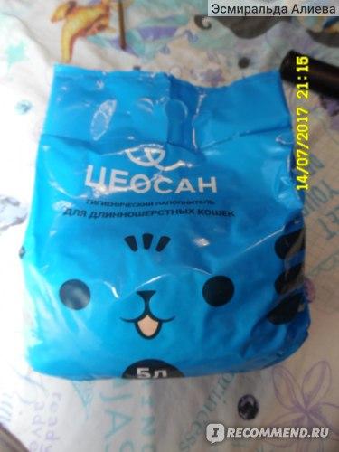 Наполнитель для кошачьего туалета Цеосан для длинношёрстных кошек фото