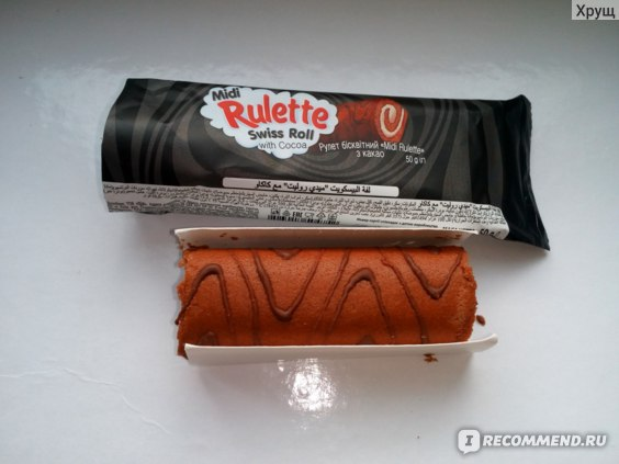 "Рулет КБФ Бисквитный ""Midi Rulette"" с какао фото"