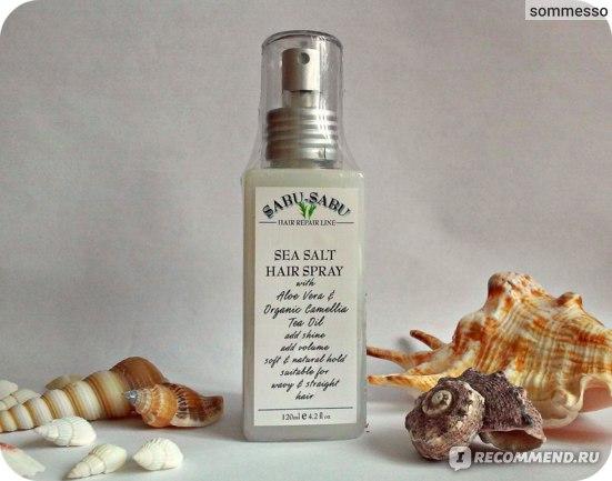 Спрей для волос Sabu-Sabu с морской солью для блеска и объема фото
