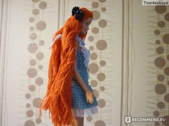 Перепрошивка волос кукле