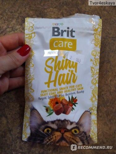 Лакомство для кошек Brit Care Shiny Hair (для блестящей шерсти) отзывы