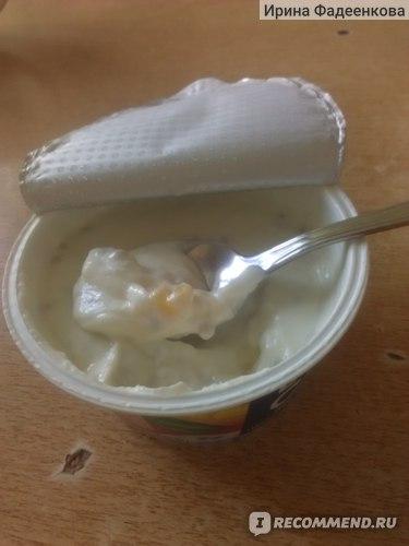 Довольно много попадается желтеньких кусочков фруктов - это манго)))