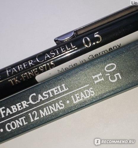 Обозначение толщины стержня на карандаше и футляре запасных грифелей