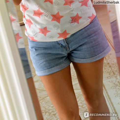 107b129624a Шорты AliExpress Women Sexy Ripped Denim Shorts Ladies'Casual Mid Waist  Cuff Jeans Shorts Summer