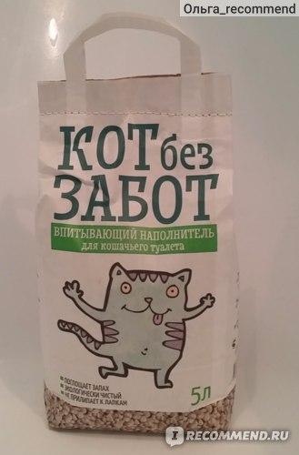 Наполнитель для кошачьего туалета  КОТ без ЗАБОТ фото
