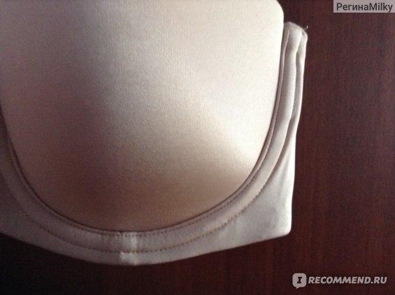 Бюстгальтер - балконет H&M Strapless из микрофибры фото