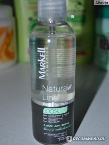 Капли для волос восстанавливающие Markell Natural line фото