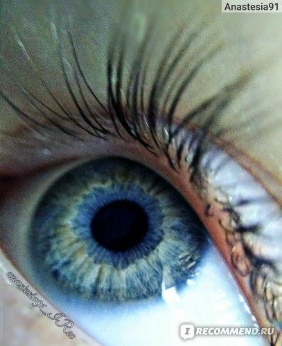 Ресницы и глаза Макросъемка