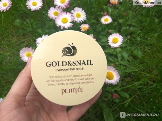 Гидрогелевые патчи для глаз Petitfee Gold&Snail hydrogel eye patch