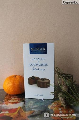 шоколад D.Munger Ганаш с коньяком и черникой