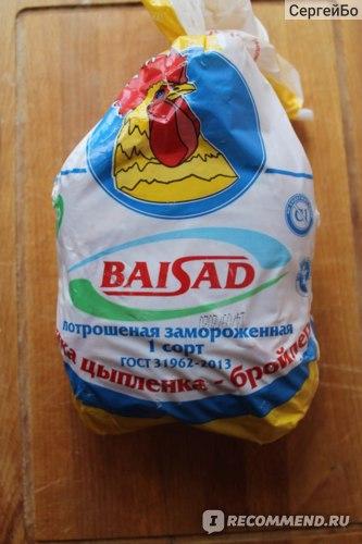 """Тушка цыпленка-бройлера ЗАО """"Байсад"""" потрошёная замороженная 1 сорт"""