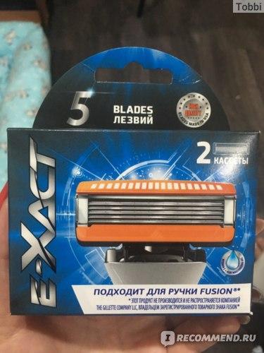 Сменные кассеты для бритвенного станка E-Xact Blades 5 фото