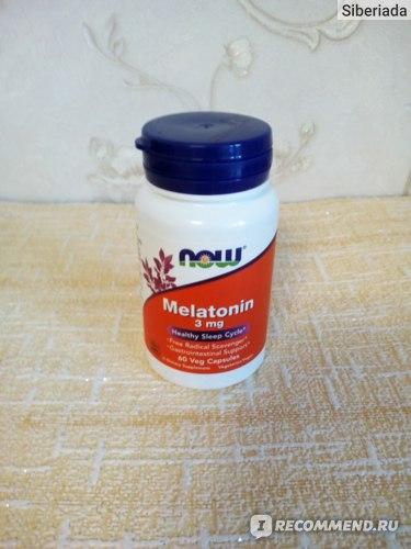 БАД Now Foods Мелатонин 3 мг фото