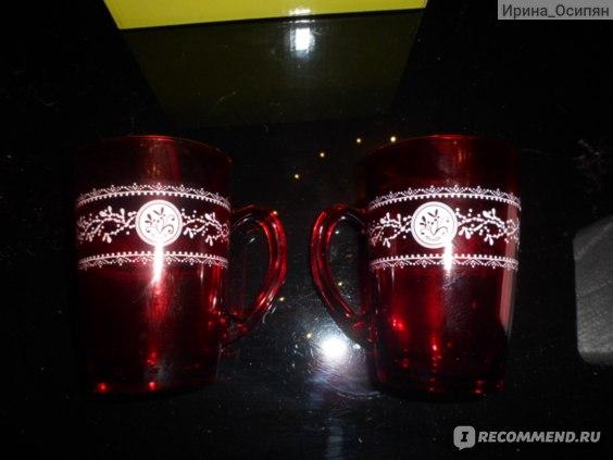 Кружка Ив Роше / Yves Rocher Красная стеклянная фото