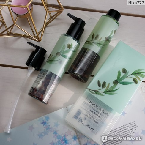 Гидрофильное масло The Saem Marseille Olive Cleansing Oil Rich Purifying  фото