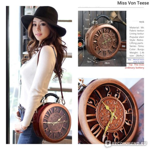 Сумка Aliexpress 2019 The New Creative Alarm Clock Package Handbag Watch Fashion Women's Handbag Shoulder Bag Handbags Dropship Bags фото