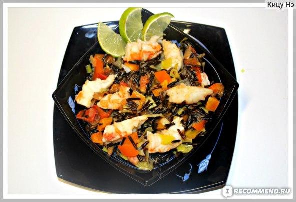 Лангустины с диким рисом