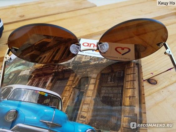 Очки солнцезащитные женские Aliexpress AOFLY BRAND DESIGN Round Frameless Sunglasses Women Retro Vintage Mirror Sunglasses Eyewear Lenses UV400 A2407 фото
