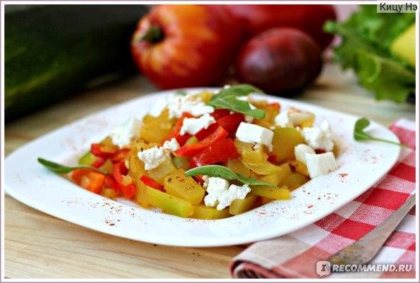 Рикотта с овощами.