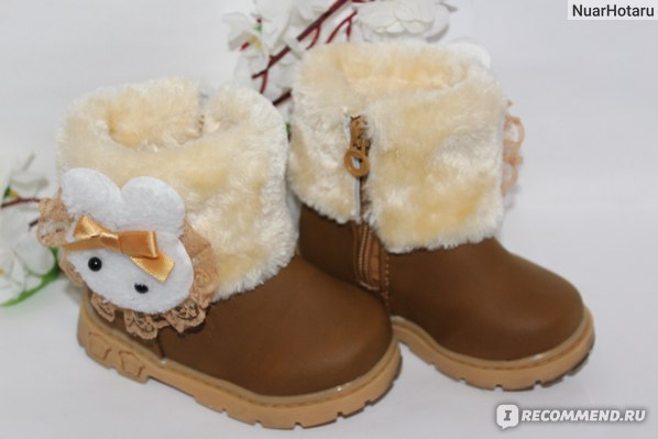 Осенние сапожки Aliexpress 2014 Promotion! Retail winter warm Thick kids shoe Baby snow boots baby girls and boys lovely rabbit cotton shoes 1pair фото